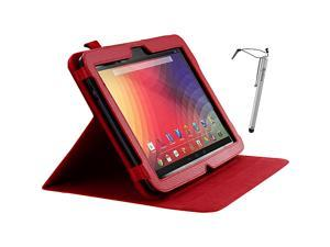 rooCASE Dual-View Leather Case w/ Stylus for Google Nexus 10