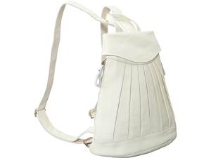 AmeriLeather Pleated Mini-Backpack