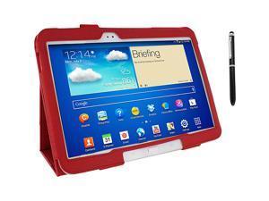 rooCASE Samsung Galaxy Tab 3 10.1: Dual Station Folio Case w/ Stylus