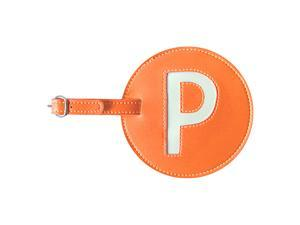 pb travel Leather Initial 'P' Luggage Tag Set of 2