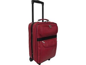 AmeriLeather Leather 20in. Expandable Carry On Pullman