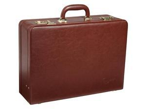 AmeriLeather Large Expandable Faux Leather Attaché Case