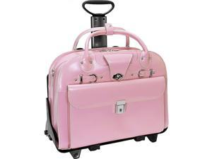McKlein USA Roseville - Fly-Through Checkpoint-Friendly Removable Rolling Ladies' Laptop Case