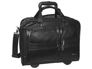 SOLO Nappa Leather Rolling case w/ 15.6in. Removable Laptop Sleeve