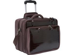 Women In Business Francine Collection - Croco 17.3in. Laptop Roller Case