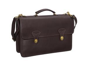 Jack Georges University Collection Flapover Briefcase w/ 2 Turnlocks