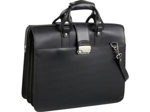 Leather Doctor's Carriage Bag (#1842-02-BLACK)