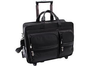 McKlein USA Clinton Nylon Wheeled 17in. Laptop Case