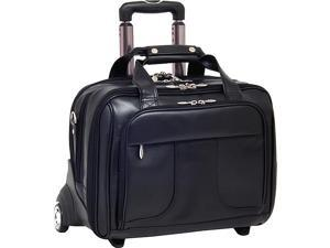 McKlein USA Chicago Leather Wheeled 17in. Laptop Case