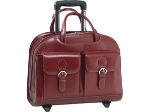 McKlein USA Davis Leather 15.4in. Wheeled Ladies' Laptop Case