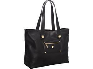 Knomo Paris Pebbled Leather E/W Laptop Shopper Tote (Battersea)