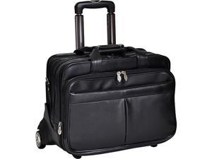 McKlein USA Roosevelt Leather Detachable Wheeled 17in. Laptop Case