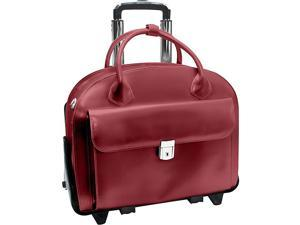 McKlein USA W Series Glen Ellyn Leather Detachable-Wheeled Women's 15.4in. Laptop Case
