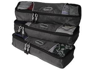 eBags Slim Packing Cubes - 3pc Set - Titanium
