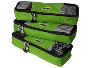 eBags Slim Packing Cubes - 3pc Set - Grasshopper