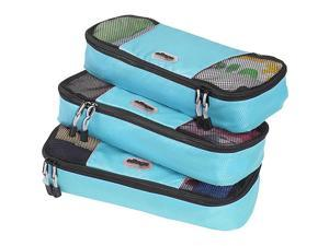 eBags Slim Packing Cubes - 3pc Set - Aquamarine