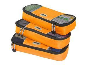 eBags Slim Packing Cubes - 3pc Set - Tangerine