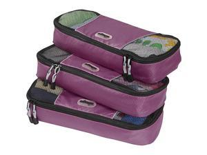 eBags Slim Packing Cubes - 3pc Set - Eggplant