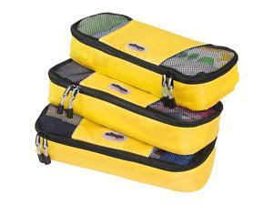 eBags Slim Packing Cubes - 3pc Set - Canary