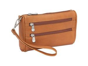 Le Donne Leather Two Zip Wristlet Clutch