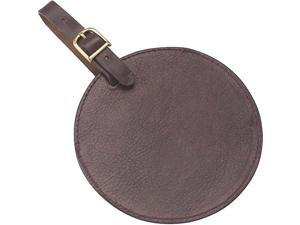 Clava Tuscan Leather Circle Luggage Tag