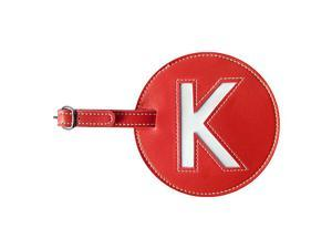 pb travel Leather Initial 'K' Luggage Tag Set of 2