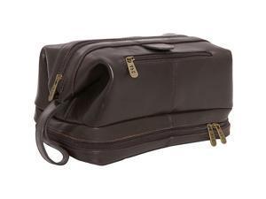 Amerileather Leather Toiletry Bag (Dark Brown)
