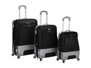 Rockland Luggage 3 Piece Rome Hybrid Luggage Set