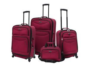 U.S. Traveler 4 Piece Exp Spinner Luggage Set