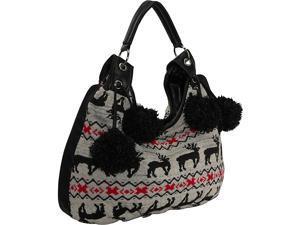 Ashley M Sweater Knit Hobo Bag