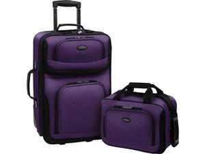 Traveler's Choice Rio 2-Piece Lightweight Carry-On Luggage Set