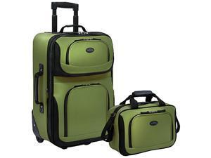 Traveler's Choice Rio 2-Piece Lightweight Carry-On Luggage Set