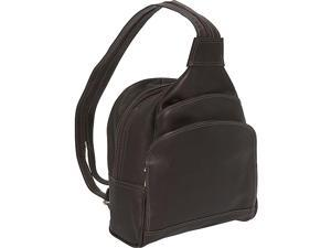 Piel Three-Pocket Sling Bag