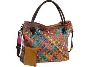 AmeriLeather Rainbow Weaver Tote Bag