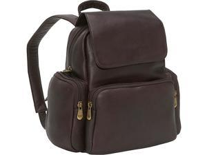 Le Donne Leather Women's Multi Pocket Back Pack Purse