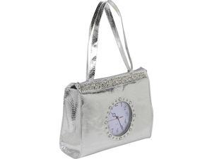 Ashley M Metallic Tick Tock Tote Bag