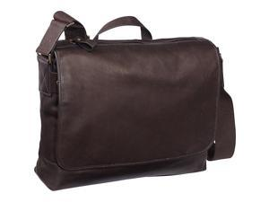 eBags Laptop Collection Tribeca Colombian Leather Vintage Laptop Messenger Bag - Brown