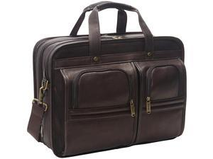 eBags Laptop Collection Wall Street Colombian Leather Expandable Laptop Brief