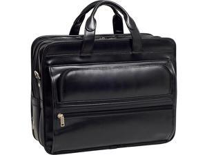 McKlein USA P Series Elston Leather Double Compartment Laptop Case