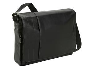 "Kenneth Cole Reaction ""What's The Bag Idea?"" Full-Grain Leather Laptop Messenger Bag"