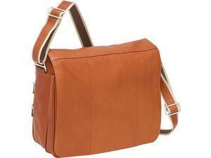 Piel Expandable Laptop Messenger Bag