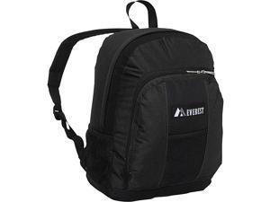Everest Backpack with Front & Side Pockets (Black)