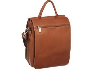 Piel Double Flap-Over Shoulder Bag
