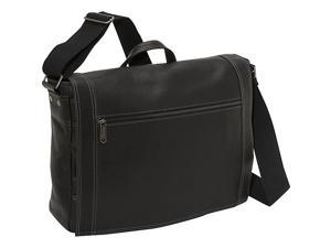eBags Laptop Collection Tribeca Colombian Leather Zip-Flap Laptop Messenger