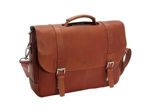 Kenneth Cole Reaction Show Business - Colombian Leather Flapover Computer Case - Cognac