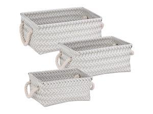 Honey-Can-Do 3-Piece Zig Zag Basket Set