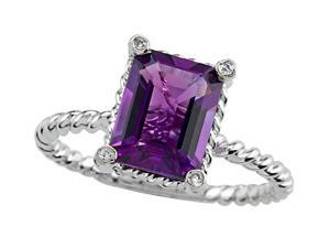 2.10 cttw Genuine Amethyst Ring by Effy Collection(R) LIFETIME WARRANTY