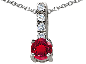 Original Star K(TM) Round 6mm Created Ruby Pendant