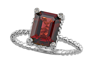 Genuine Garnet Ring by Effy Collection(R) LIFETIME WARRANTY