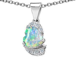 Original Star K(TM) Heart Shape 8mm Created Opal Love Pendant